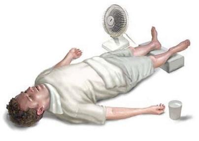 Hulp bij zonne- en warmteslag
